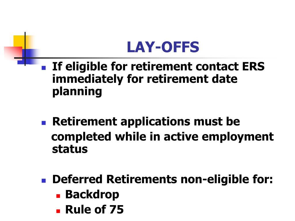 LAY-OFFS