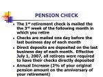 pension check