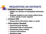 requesting an estimate