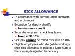 sick allowance