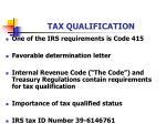 tax qualification