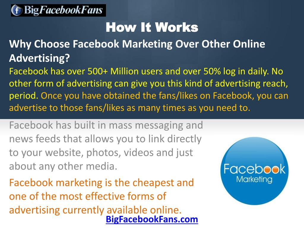 Why Choose Facebook Marketing Over Other Online Advertising?