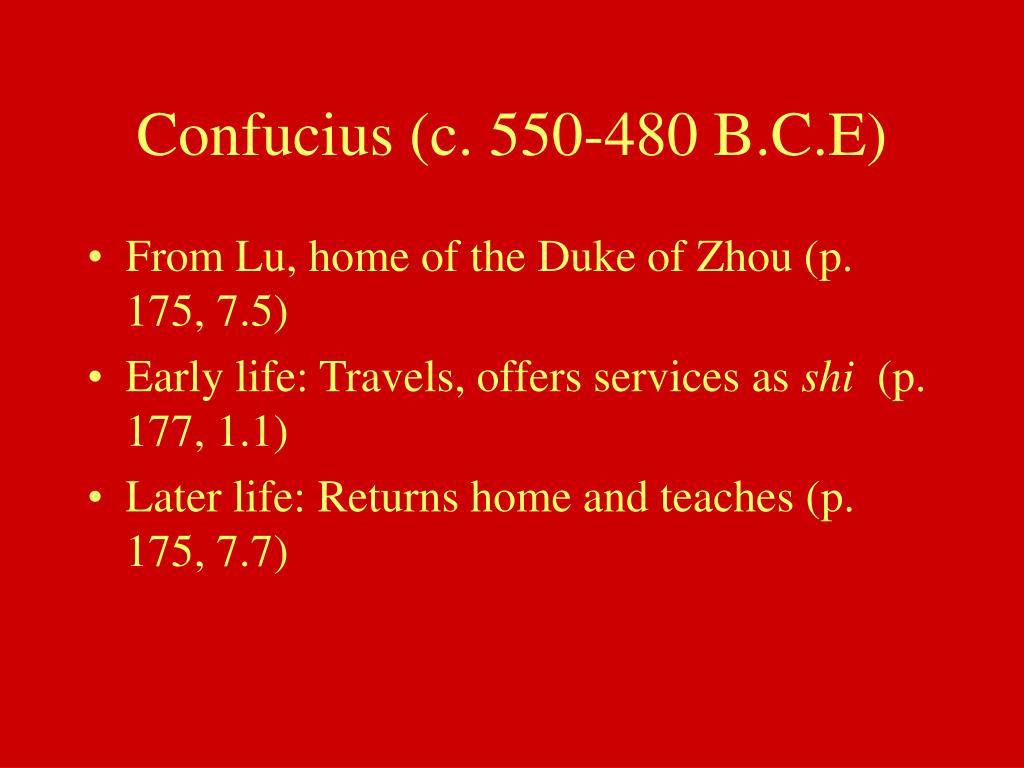 Confucius (c. 550-480 B.C.E)