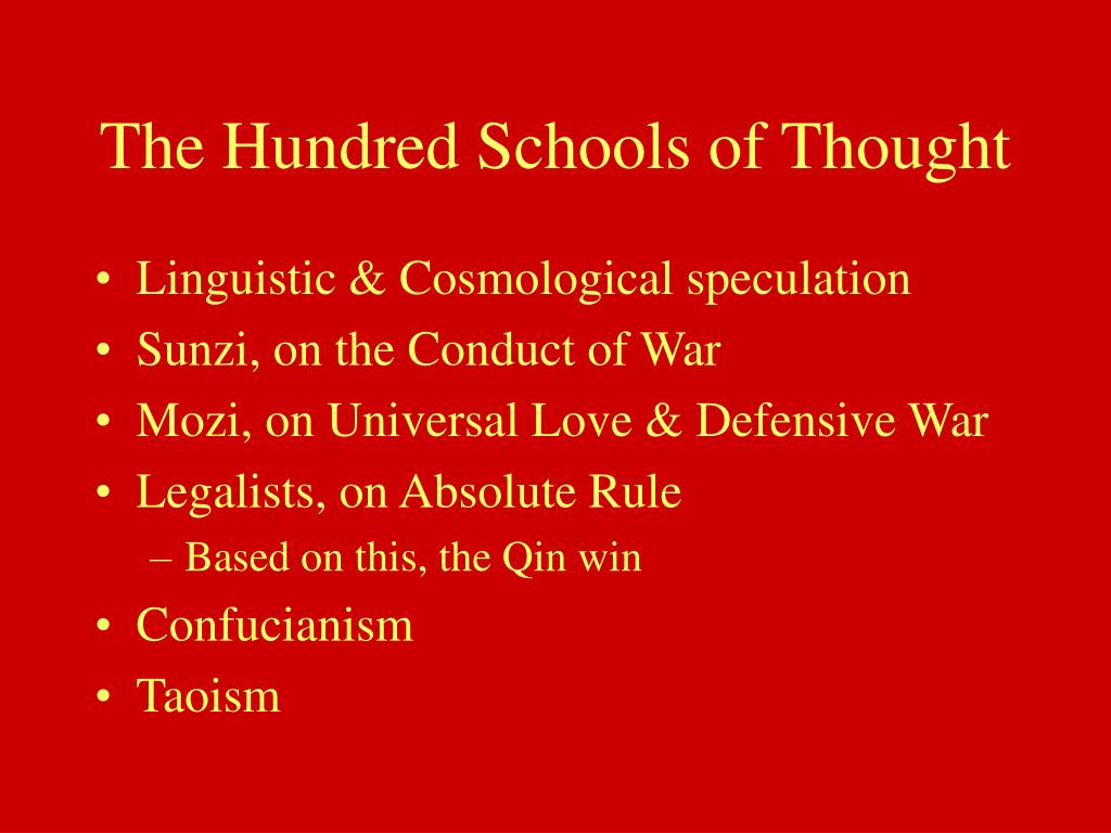 The Hundred Schools of Thought