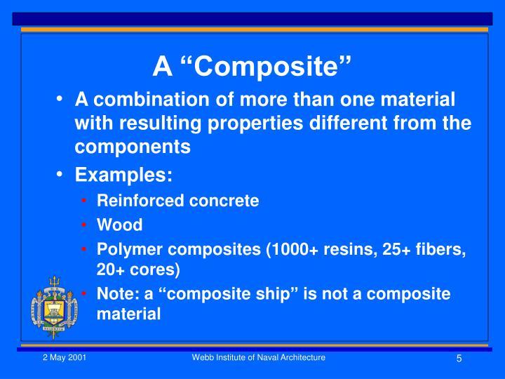 """A """"Composite"""""""