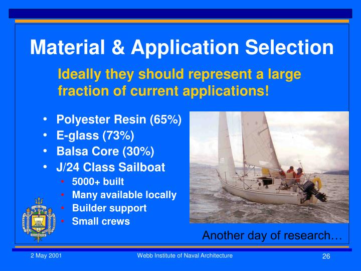 Material & Application Selection