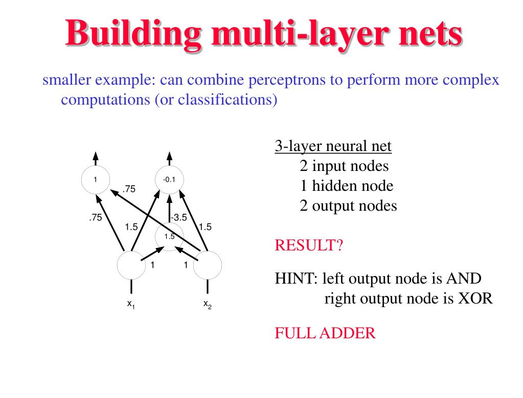 Building multi-layer nets