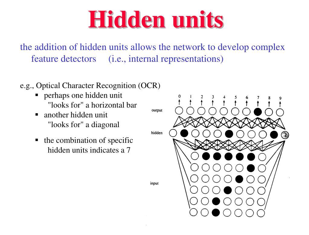 Hidden units