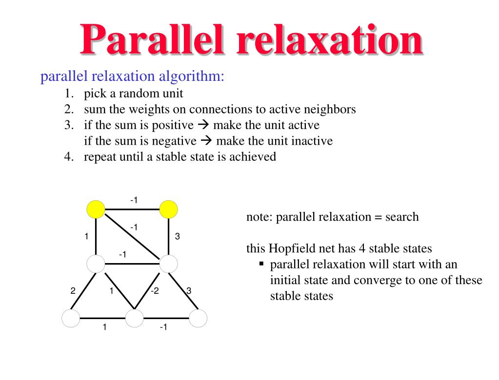 Parallel relaxation