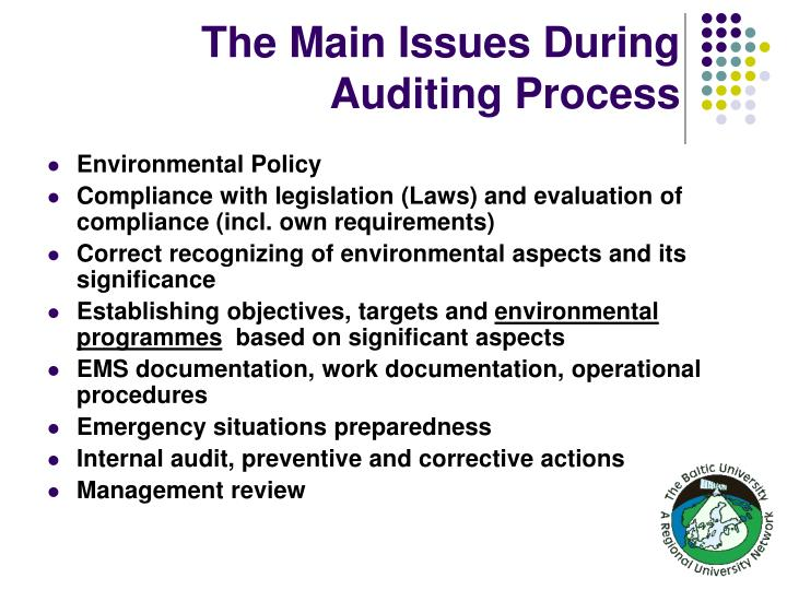The Main Issues During Auditing Process