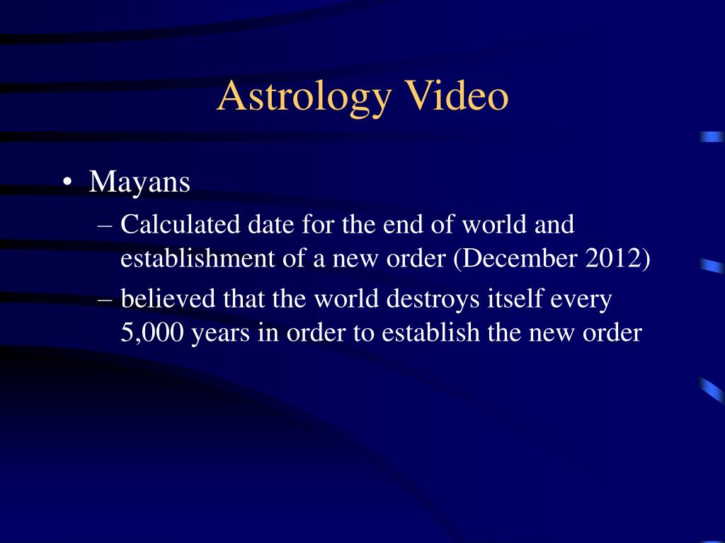 Astrology Video