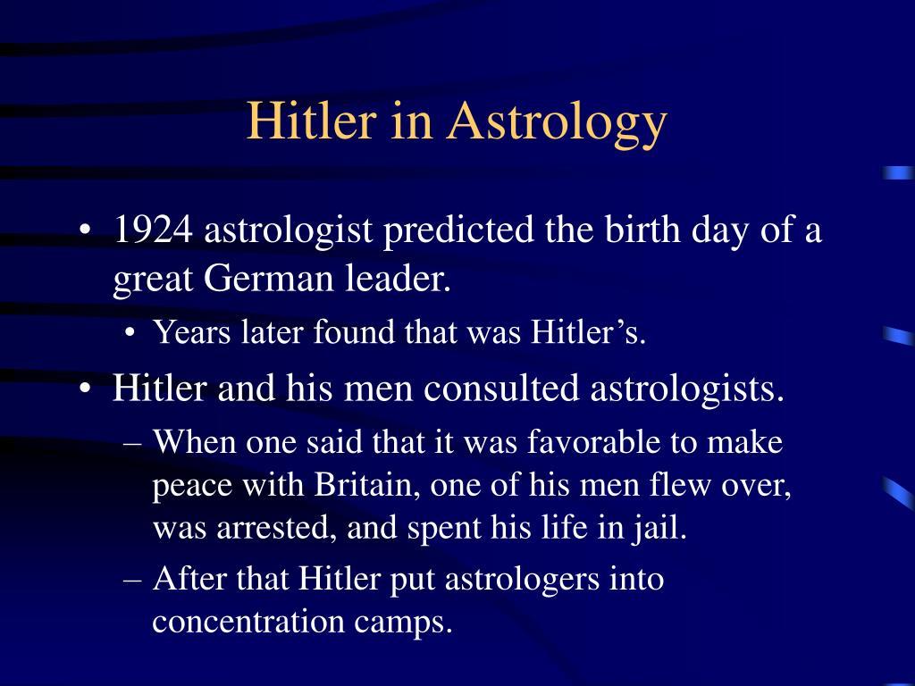Hitler in Astrology