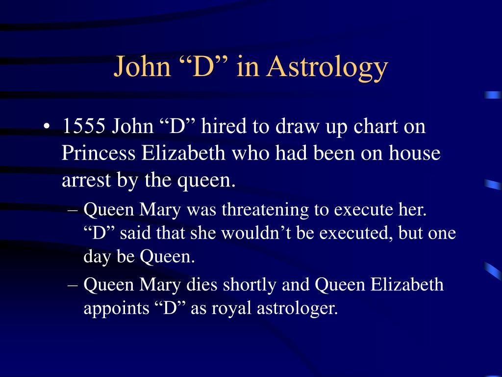 "John ""D"" in Astrology"