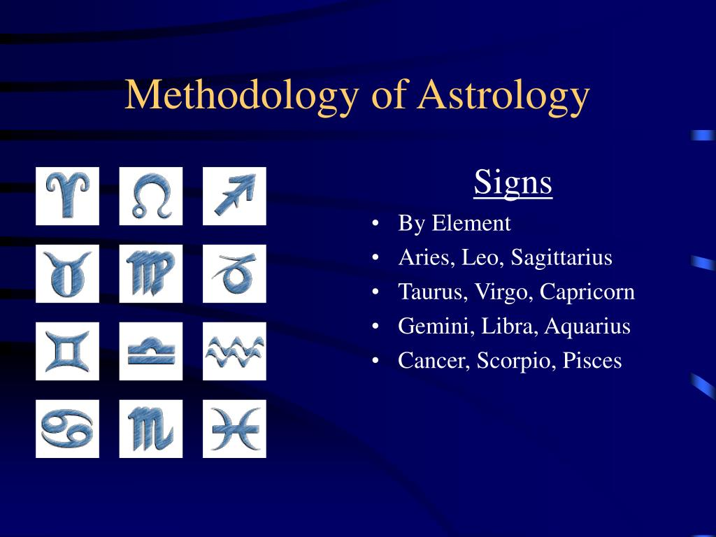 Methodology of Astrology