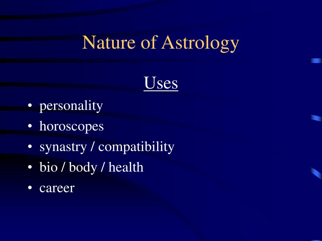 Nature of Astrology