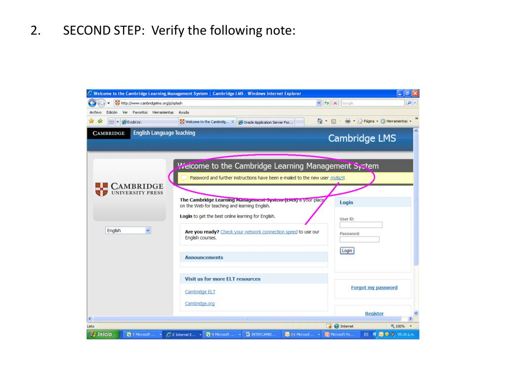 2.       SECOND STEP:  Verify the following note: