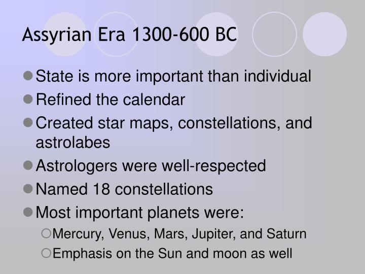 Assyrian Era 1300-600 BC