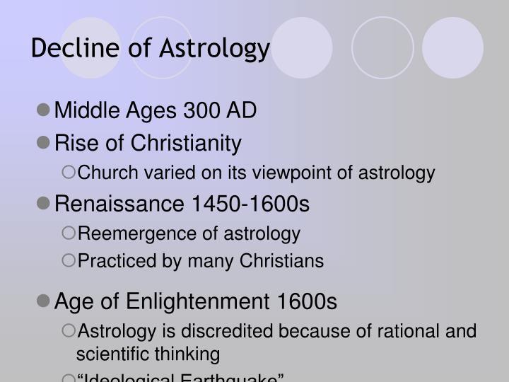 Decline of Astrology