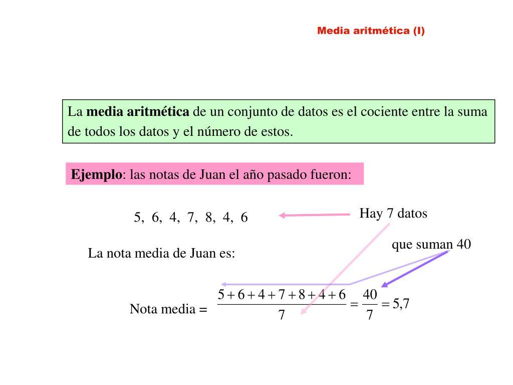 Media aritmética (I)