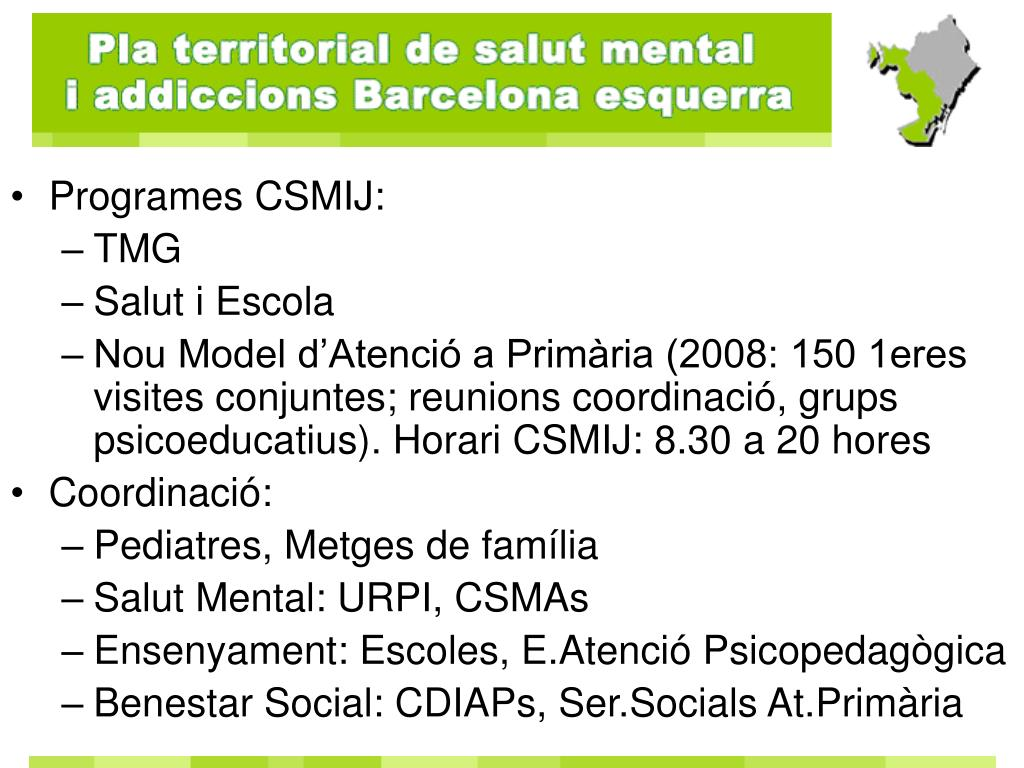 Programes CSMIJ: