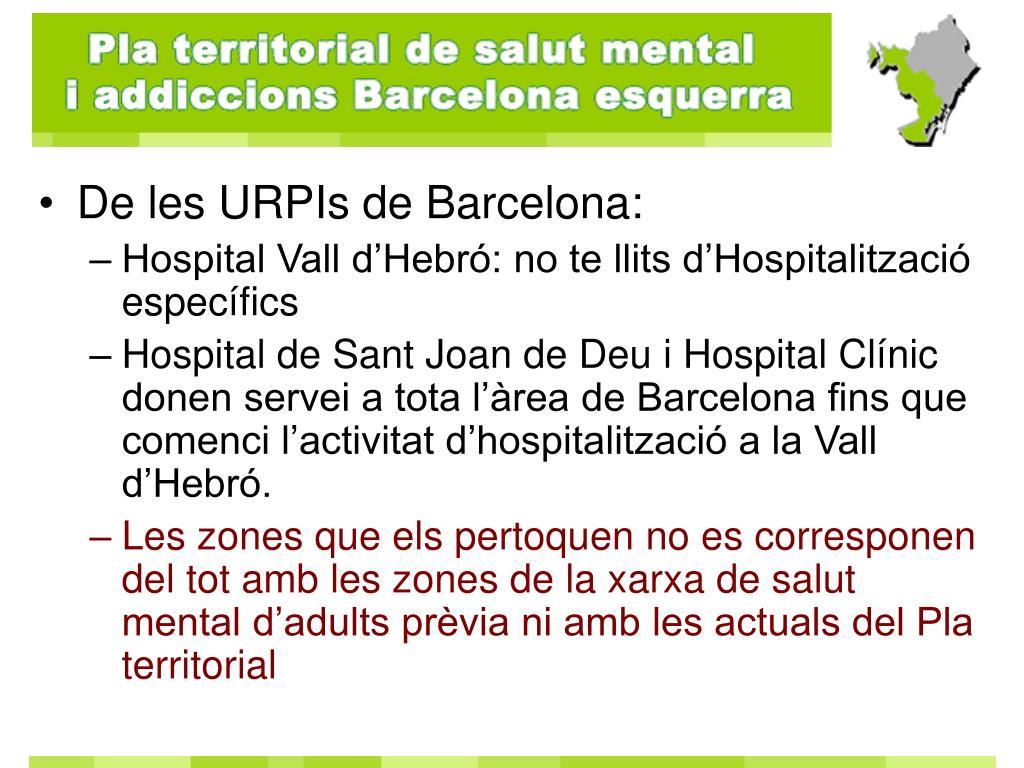 De les URPIs de Barcelona: