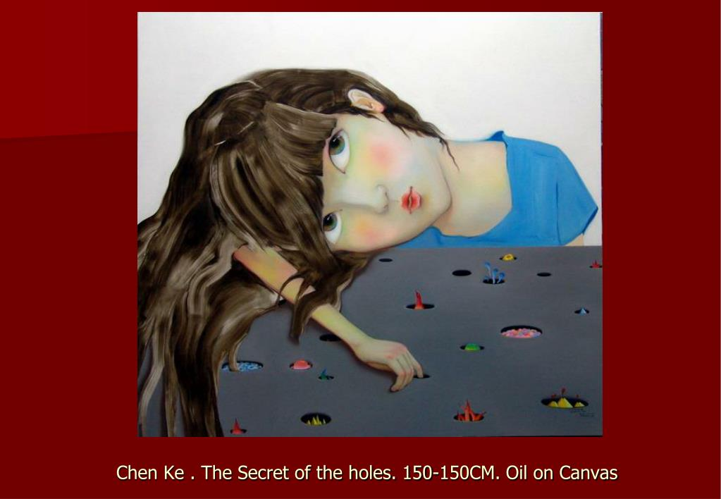 Chen Ke . The Secret of the holes. 150-150CM. Oil on Canvas