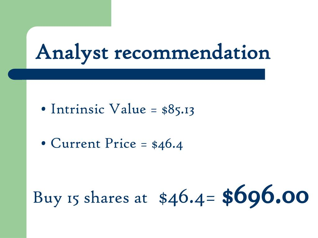 Analyst recommendation