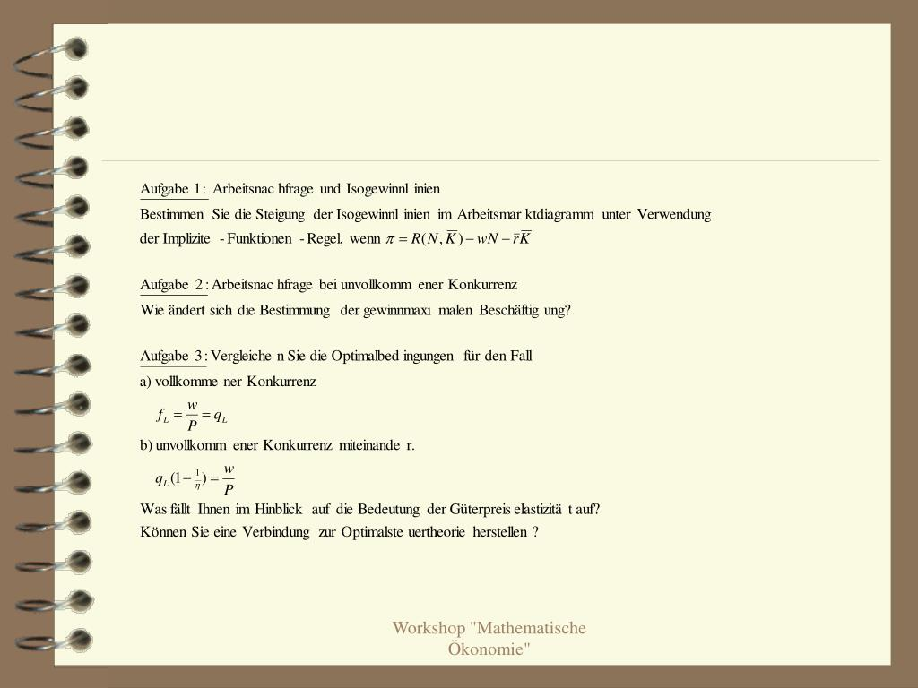 "Workshop ""Mathematische Ökonomie"""