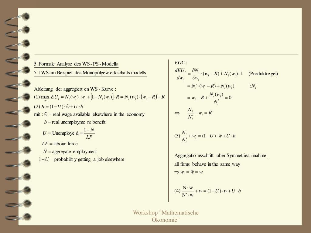 """Workshop """"Mathematische Ökonomie"""""""