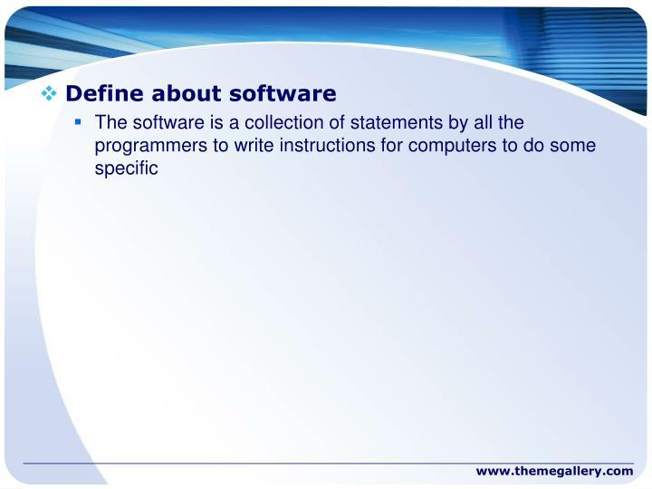 Define about software