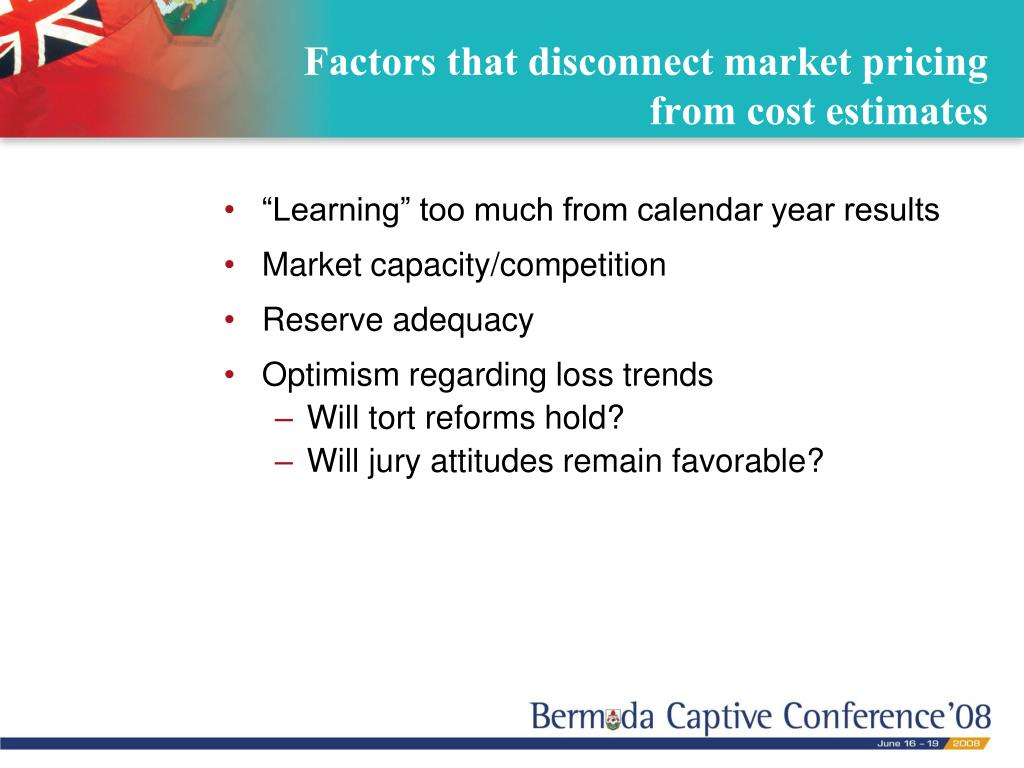 Factors that disconnect market pricing from cost estimates