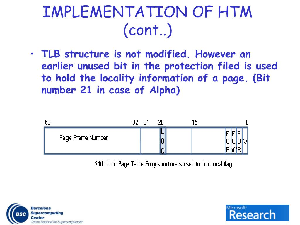 IMPLEMENTATION OF HTM (cont..)
