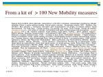 from a kit of 100 new mobility measures