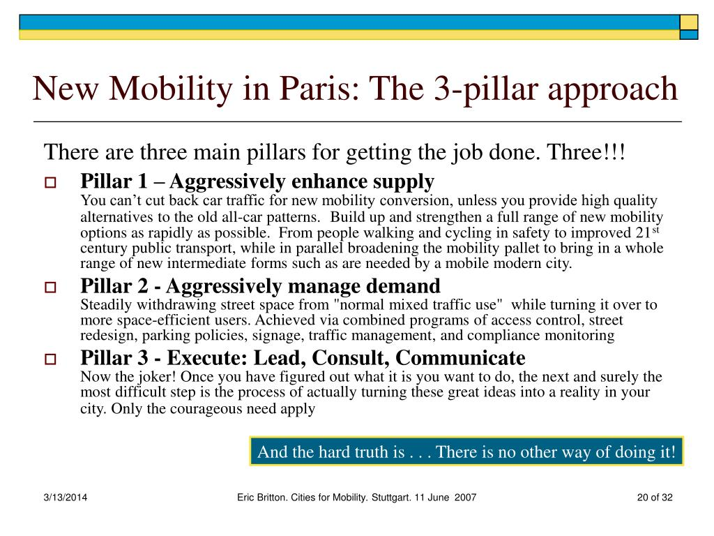 New Mobility in Paris: The 3-pillar approach