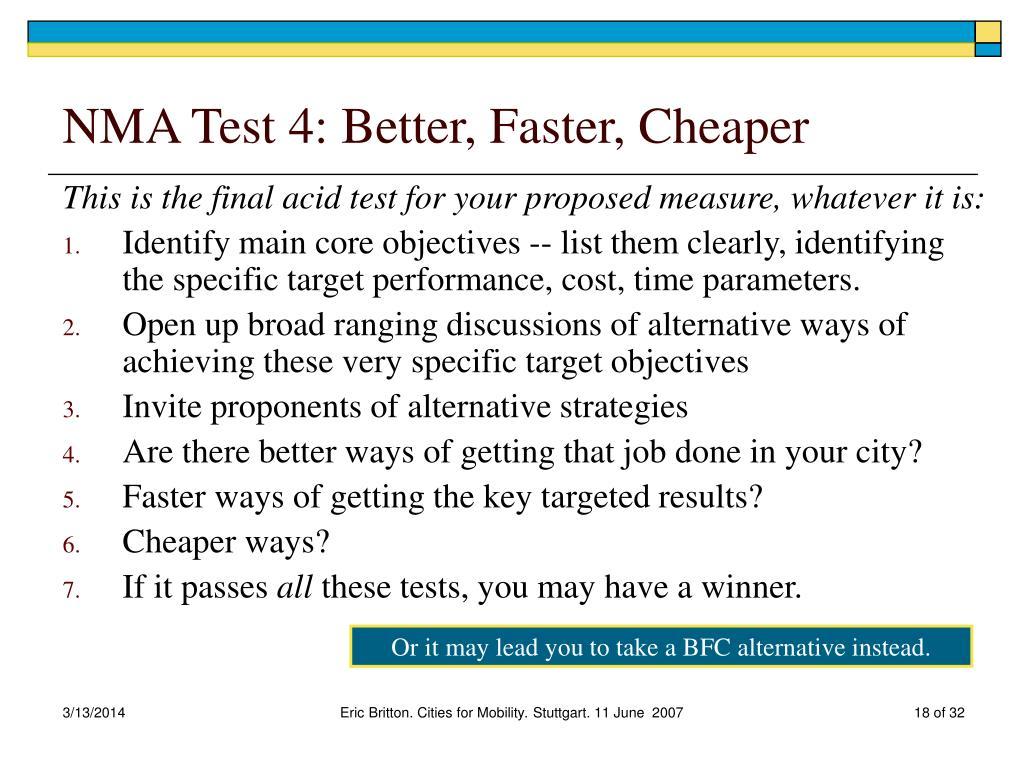 NMA Test 4: