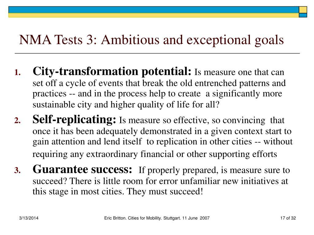NMA Tests 3: