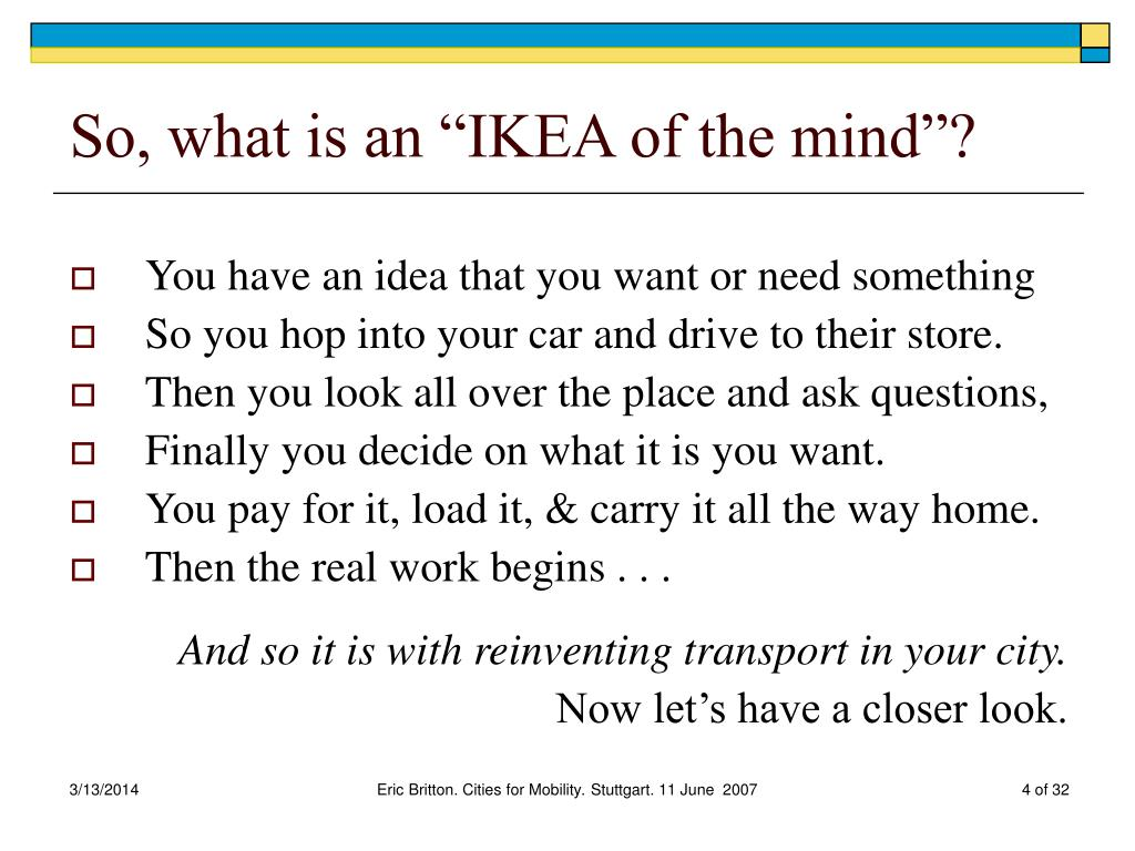 "So, what is an ""IKEA of the mind""?"