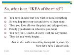 so what is an ikea of the mind