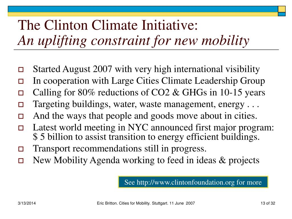 The Clinton Climate Initiative: