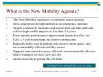what is the new mobility agenda