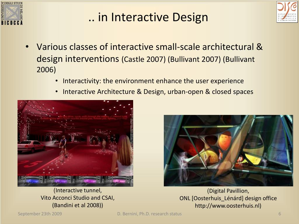 .. in Interactive Design