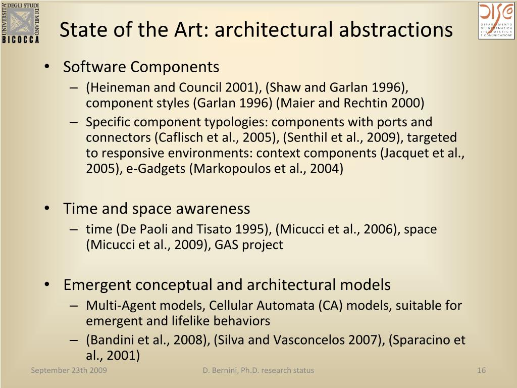 State of the Art: architectural abstractions
