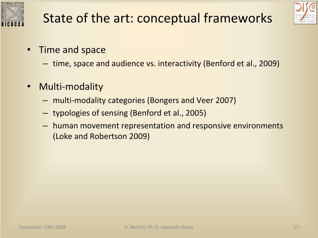 State of the art: conceptual frameworks