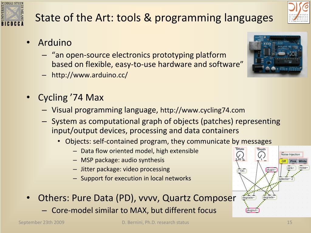 State of the Art: tools & programming languages