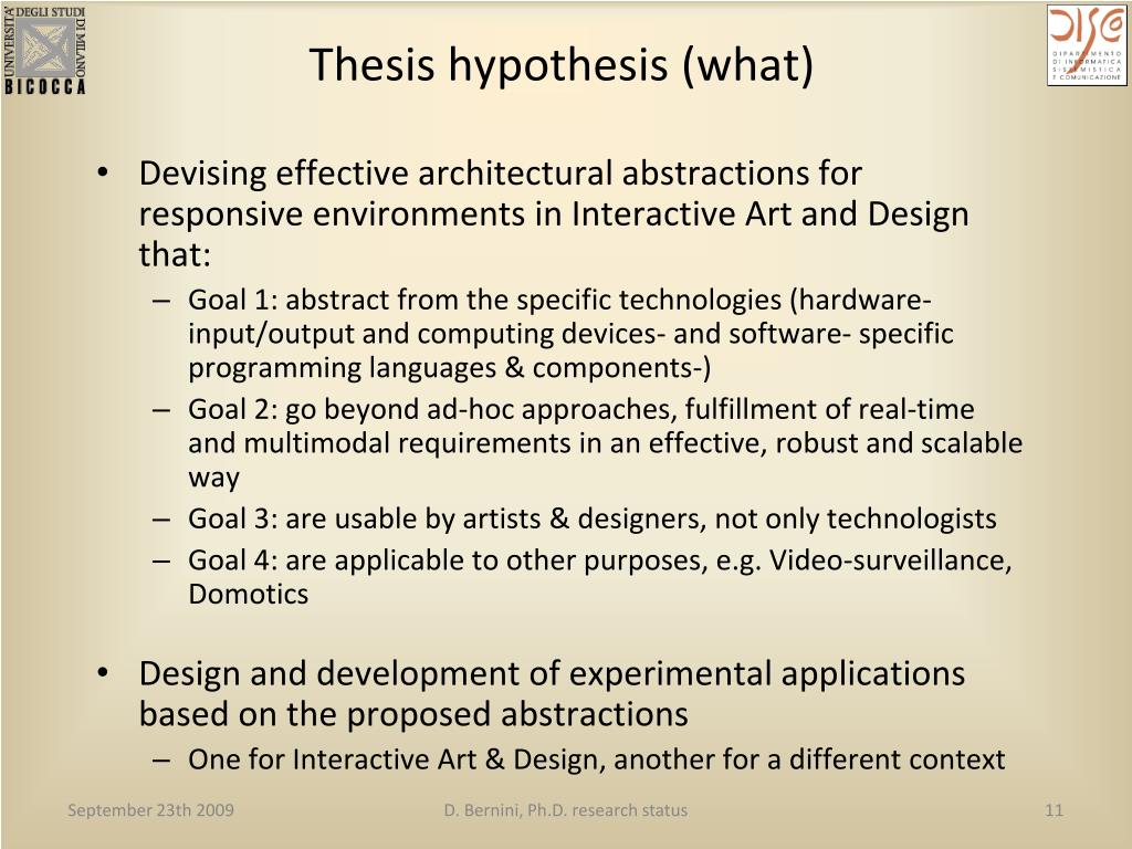 Thesis hypothesis (what)