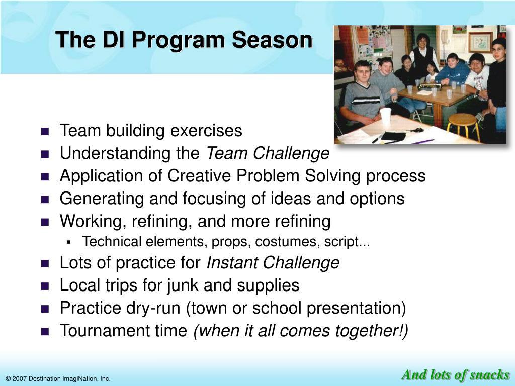 The DI Program Season