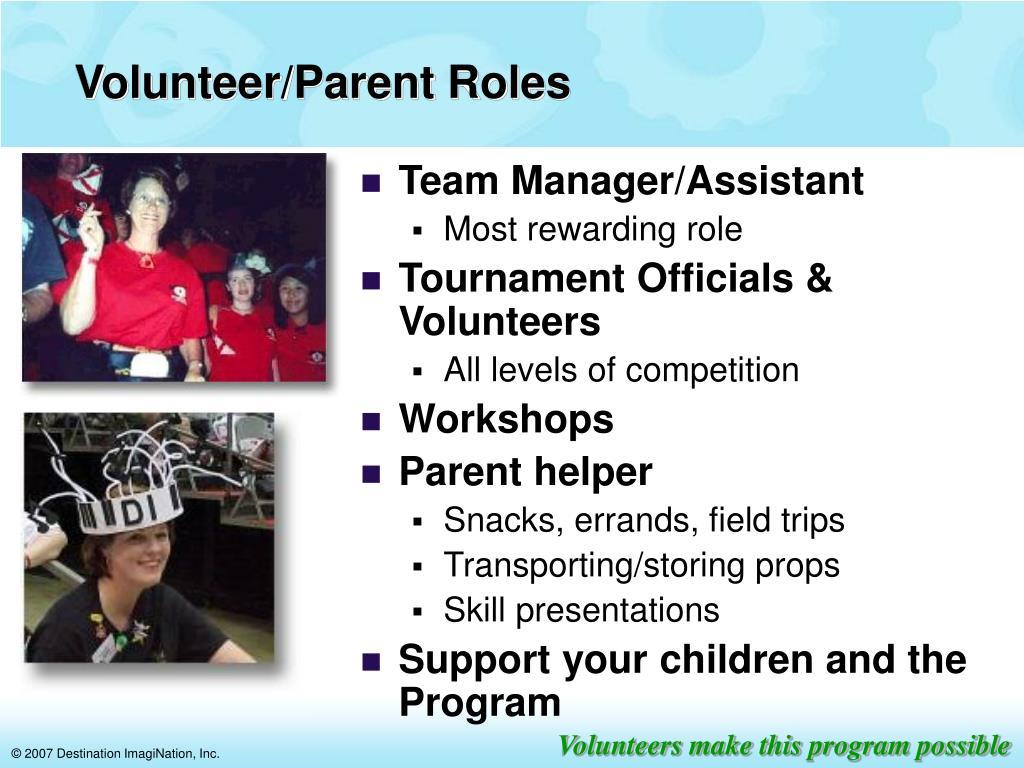 Volunteer/Parent Roles