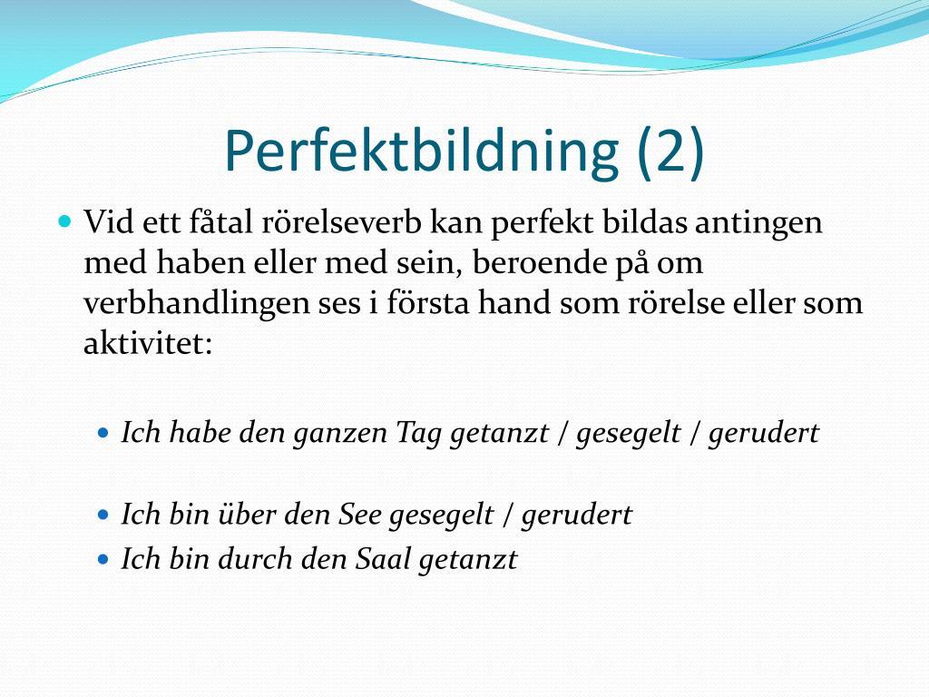Perfektbildning
