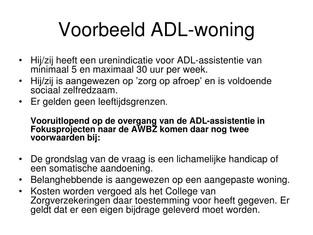 Voorbeeld ADL-woning