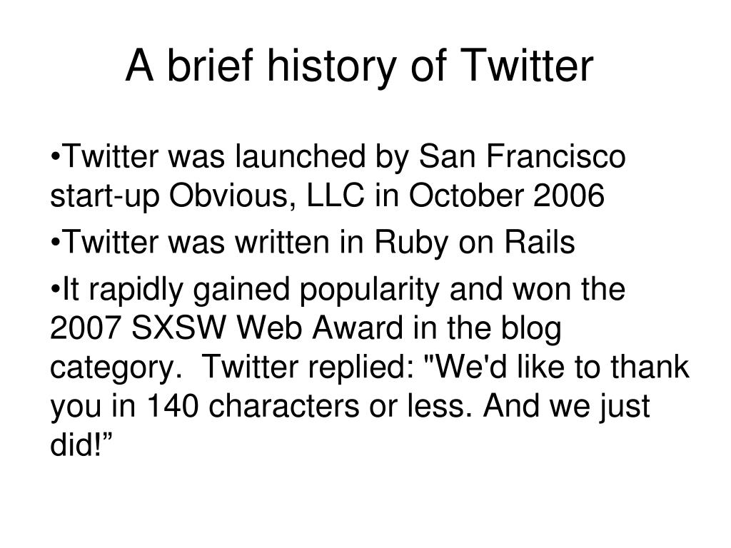 A brief history of Twitter